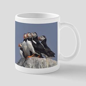 5 puffins Mug
