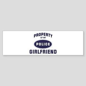 Police Property: GIRLFRIEND Bumper Sticker