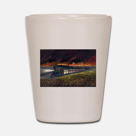 Prairie fires of the great west - 1872 Shot Glass