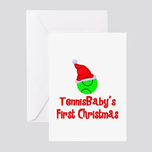 TennisBaby's First Christmas Greeting Cards (Packa