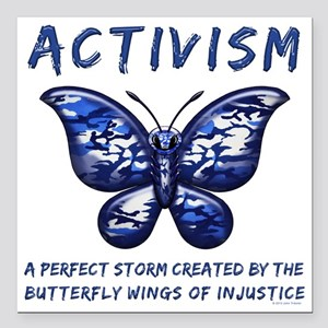 "Activism Square Car Magnet 3"" x 3"""