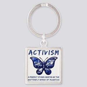Activism Square Keychain