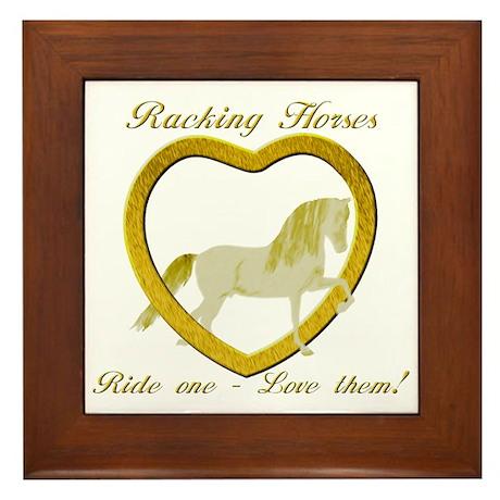 Racking Horse Ride Love Framed Tile