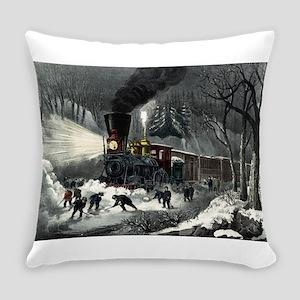 American railroad scene - snowbound - 1871 Everyda