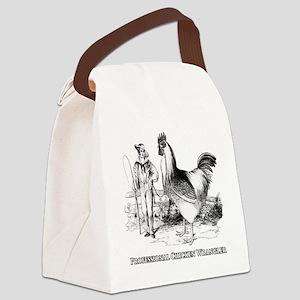 Chicken Wrangler Canvas Lunch Bag
