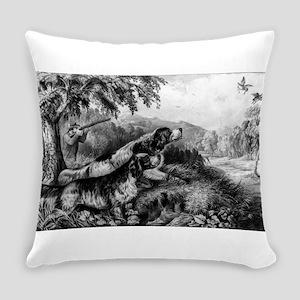 Woodcock shooting - 1870 Everyday Pillow