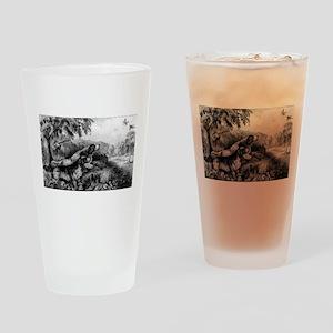 Woodcock shooting - 1870 Drinking Glass