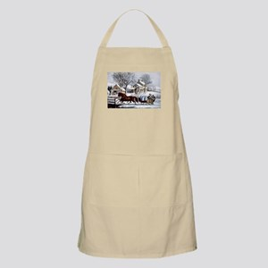 Winter morning in the country - 1873 Light Apron