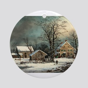 Winter in the country - a cold morning - 1863 Roun