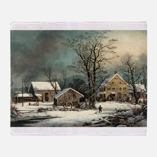 Winter in the country - a cold morning - 1863 Thro