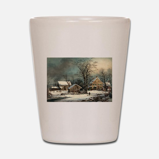Winter in the country - a cold morning - 1863 Shot