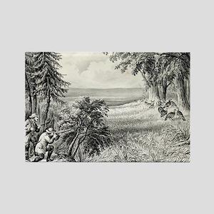 Wild turkey shooting - 1871 Magnets