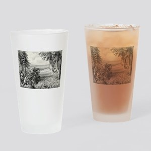 Wild turkey shooting - 1871 Drinking Glass