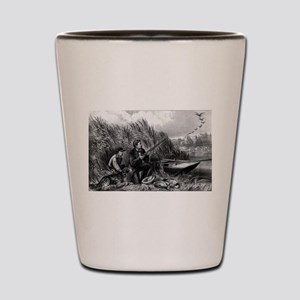 Wild duck shooting - on the wing - 1870 Shot Glass