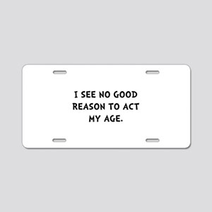 Act Age Aluminum License Plate