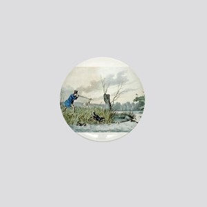 Wild duck shooting - 1846 Mini Button