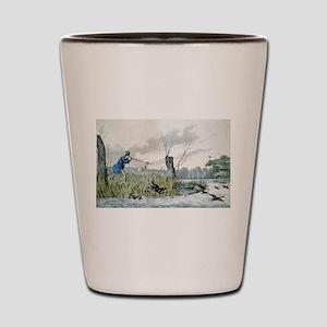 Wild duck shooting - 1846 Shot Glass