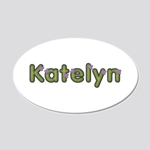 Katelyn Spring Green 20x12 Oval Wall Decal