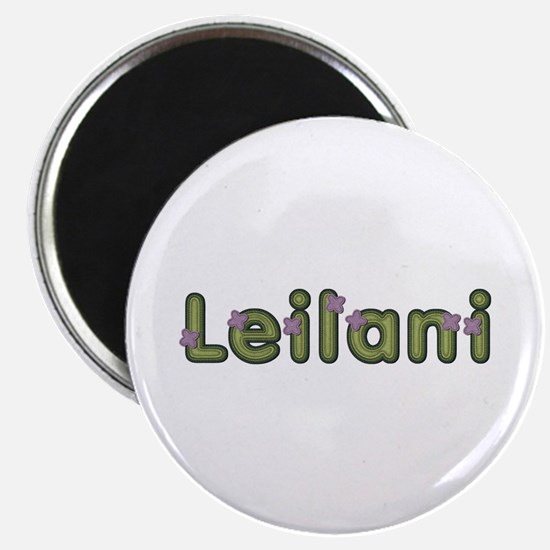 Leilani Spring Green Round Magnet 10 Pack