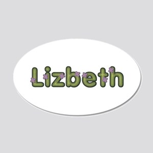 Lizbeth Spring Green 20x12 Oval Wall Decal