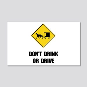 Amish Drink Drive Wall Decal