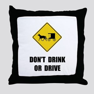 Amish Drink Drive Throw Pillow