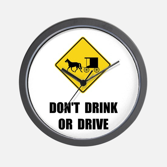 Amish Drink Drive Wall Clock