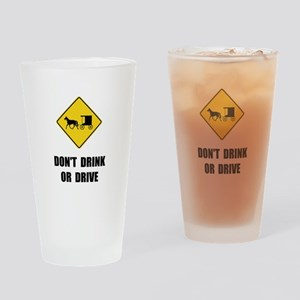 Amish Drink Drive Drinking Glass