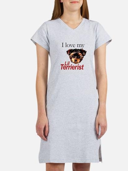 Love My Lil Terrierist Women's Nightshirt