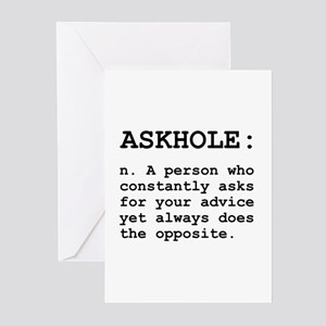 Askhole Definition Greeting Cards (Pk of 20)