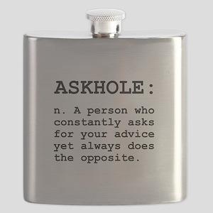 Askhole Definition Flask