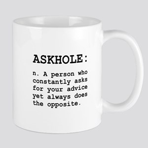 Askhole Definition Mug