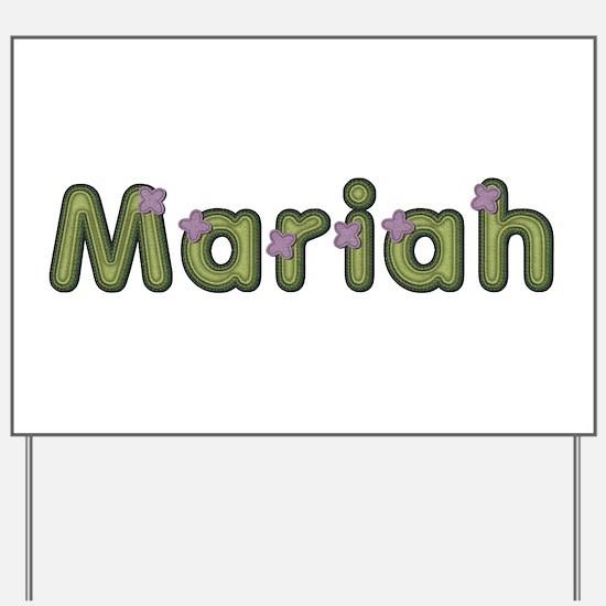 Mariah Spring Green Yard Sign