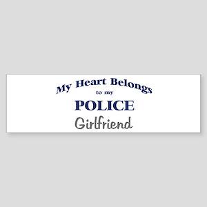 Police Heart: Girlfriend Bumper Sticker