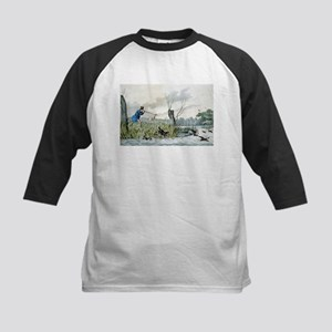Wild duck shooting - 1846 Kids Baseball Tee