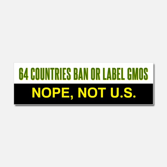 64 Countries Ban or Label GMOs car magnet