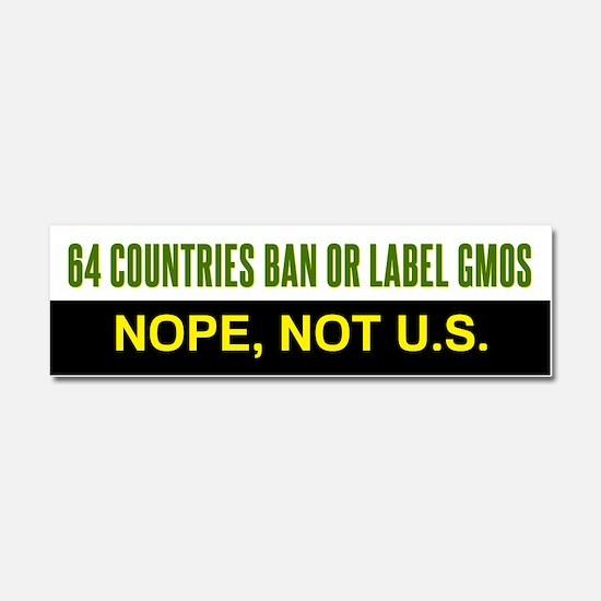 64 Countries Ban or Label GMOs car magnet
