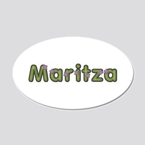 Maritza Spring Green 20x12 Oval Wall Decal
