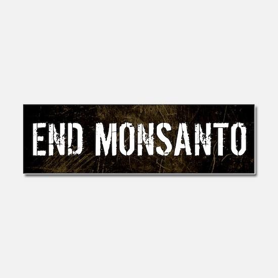 End Monsanto car magnet