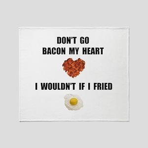 Bacon My Heart Throw Blanket
