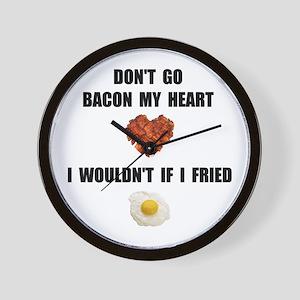 Bacon My Heart Wall Clock
