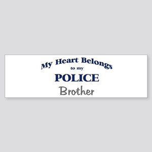 Police Heart: Brother Bumper Sticker
