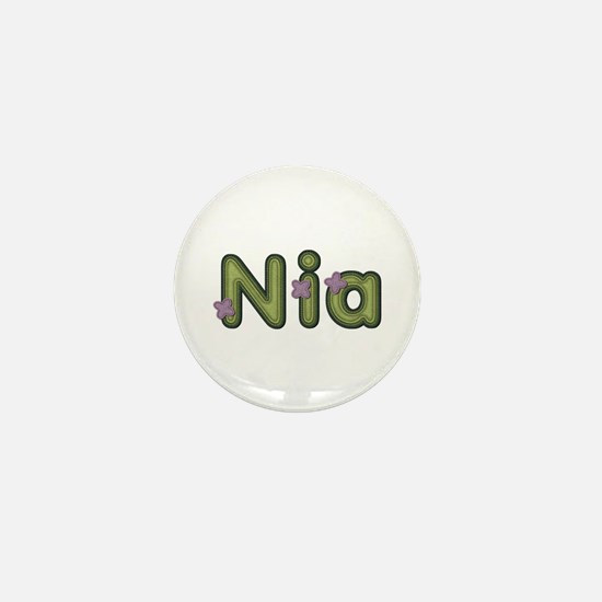 Nia Spring Green Mini Button