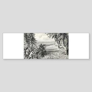 Wild turkey shooting - 1871 Sticker (Bumper)