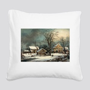 Winter in the country - a cold morning - 1863 Squa