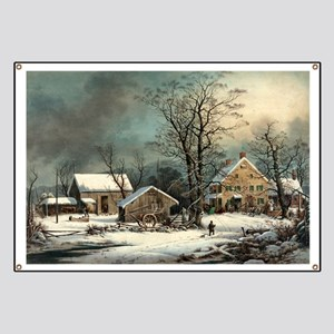 Winter in the country - a cold morning - 1863 Bann