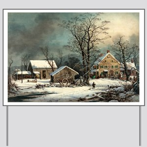 Winter in the country - a cold morning - 1863 Yard
