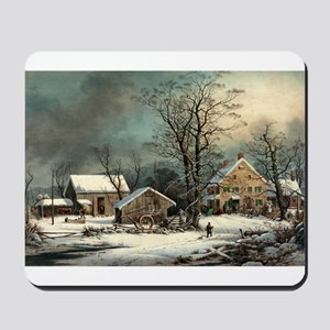 Winter in the country - a cold morning - 1863 Mous