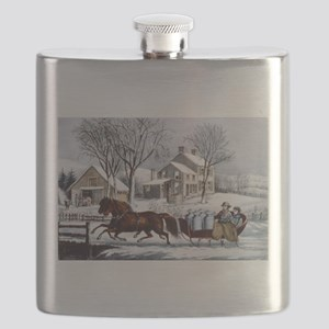 Winter morning in the country - 1873 Flask