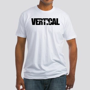 Vertical Black R22 Fitted T-Shirt